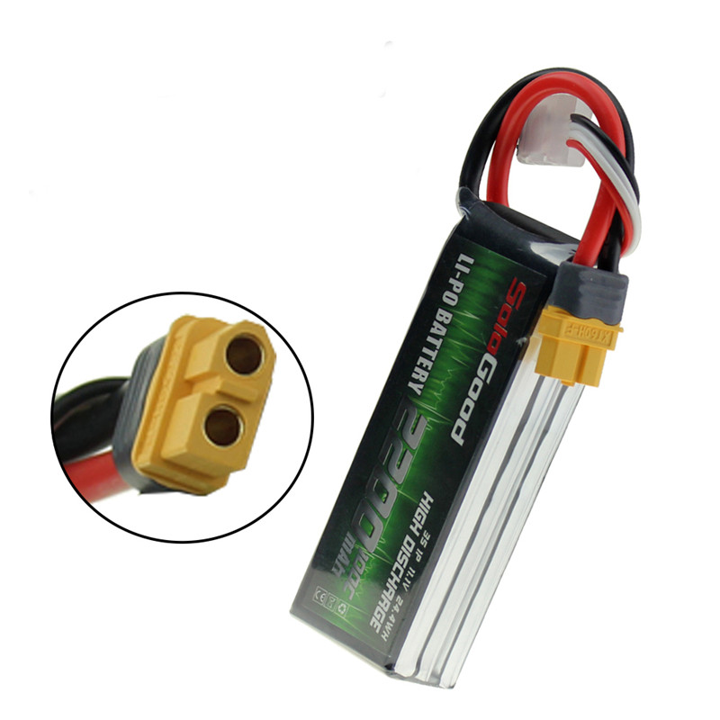 Rated good 11.1 V 2200 mAh 100C 3 S Lipo batterie XT30 Plug