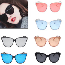Fashion  Colorful Round Sunglasses Women Brand Designer Pink Yellow Sun Glasses Vintage Retro Shades