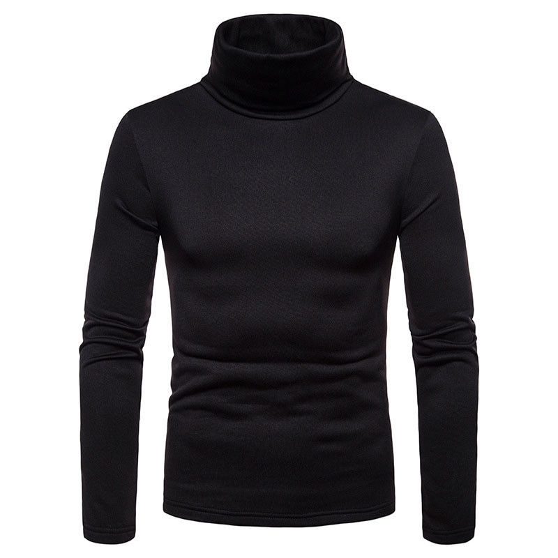 2019 New Early Spring Men'S Sweater Turtleneck Solid Color Casual Sweater Men's Slim Fit Brand Knitted Sweaters Pullovers