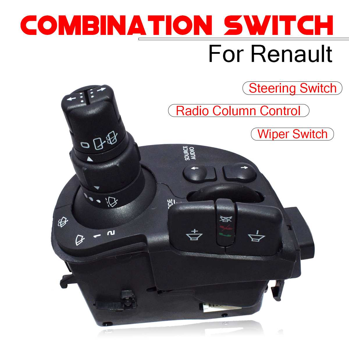 Wiper Radio Steering Column Combination Car Switch 8201590631 For Renault Clio Kangoo Modus Auto Replacement Switches Parts