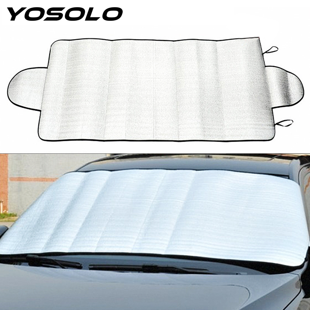 YOSOLO Car Windshield Sun Shade Windshield Film Car Styling Durable Sun Reflective Shade Foldable UV Protect