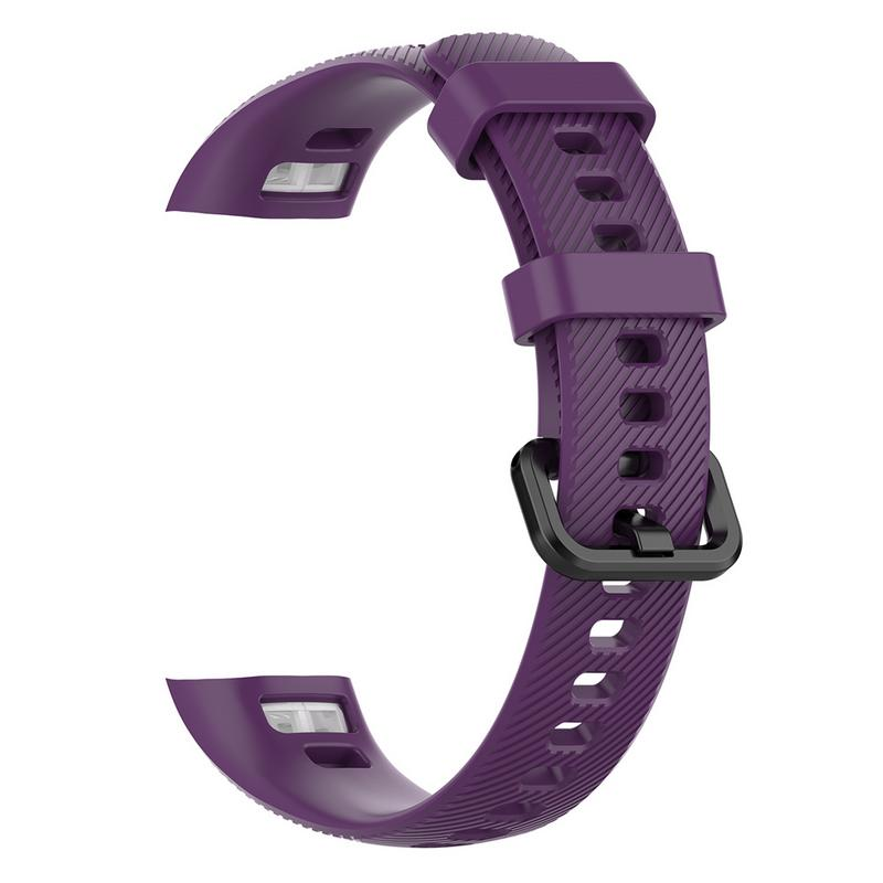 Image 4 - Silicone Soft Straps Replacement Sport Smart Watches Band Rubber Breathable Smooth Wristband Bracelet For Huawei Glory 4-in Smart Accessories from Consumer Electronics