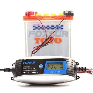 Image 2 - 6V 12V 0.8A 4A skuter motocyklowy inteligentna ładowarka do akumulatora z szybkozłączem SAE, uniwersalna ładowarka AGM EFB WET