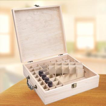 62 슬롯 나무 스토리지 박스 운반 보호 상자 에센셜 오일 병 아로마 테라피 컨테이너 금속 잠금 나무 스토리지 케이스