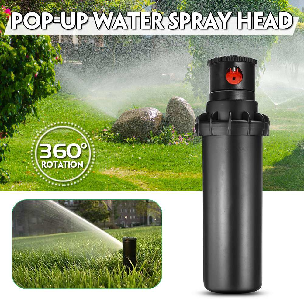 Grassland Integrated Sprinkler High Pressure 360 Degrees Rotating Watering Pop-up Spray Head Sprinkler Watering 5.0-15.2 Meter R