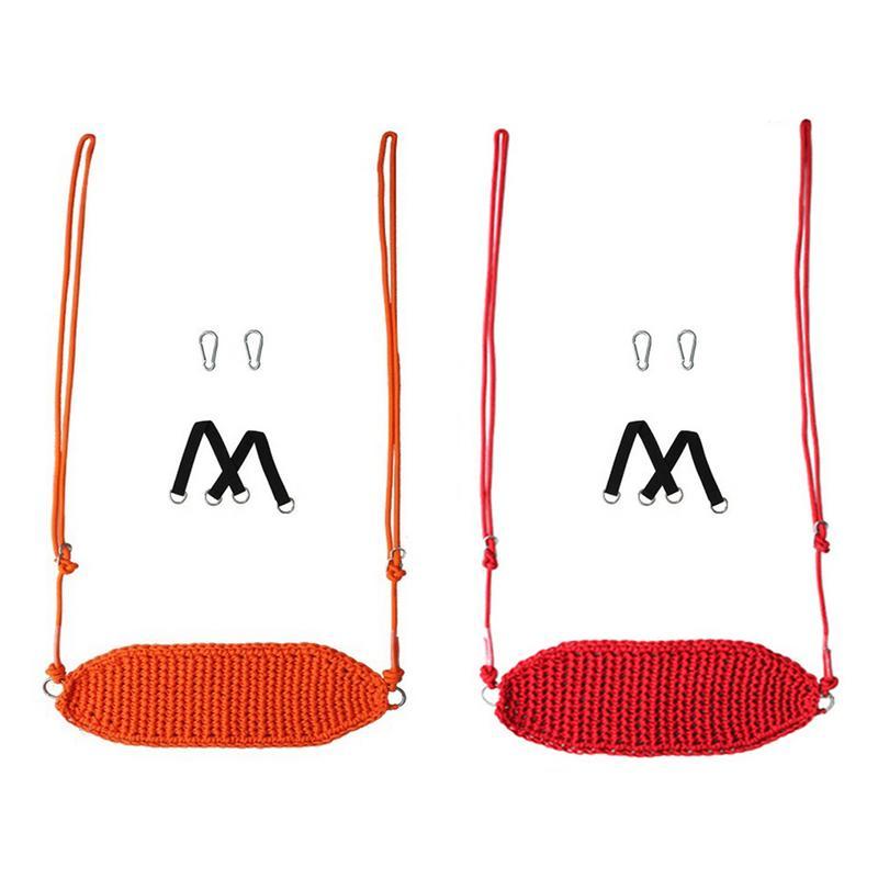 Balançoire pour enfants jouet intérieur corde Net balançoire siège est livré avec Anti-collision doux comprend des bandes mousqueton et arbre balançoire sangle Kit