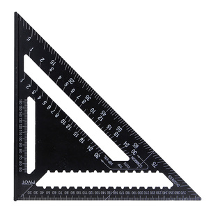 "Image 5 - 30センチメートルアルミセット直角定規12 ""分度器垂木角フレーム測定大工測定木工三角形のルール"