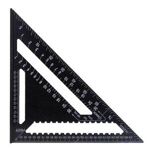 "Image 5 - 30cm Aluminium Set Quadrat herrscher 12 ""Protractors Rafter Winkel Rahmen Mess Carpenter Messung holzbearbeitung Dreieckigen Regel"