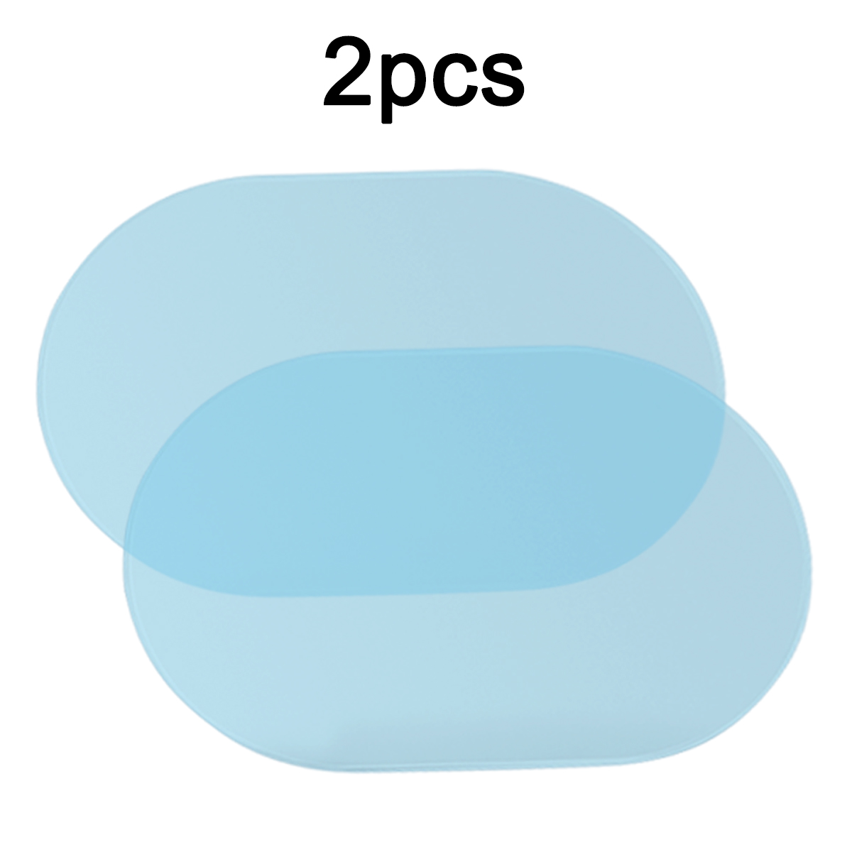 New Arrival 2Pcs 100*140mm PET+Nano-coating Car Anti Water Mist Film Anti Fog Rainproof Rearview Mirror Window Protective Film