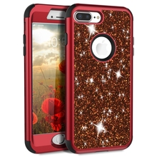 цена на Luxury Hard Case For iPhone 8 7 6 6S Plus Case Glitter Bling Crystal PC Cover For iPhone 7 6 6s 8 Plus Case Silicone Cute Girls