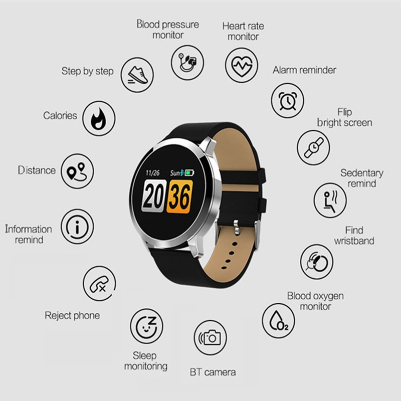 Anti-lost Smart Wristband Blood Oxygen Monitor Smart Watch Men Step Count Fitness Tracker for Android IOS Electronic Wrist Watch
