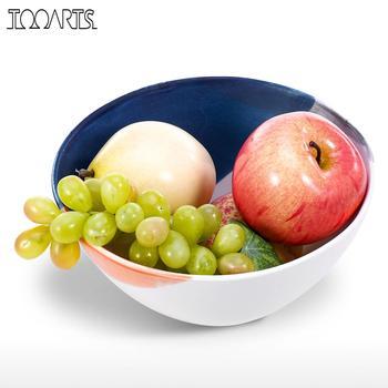 Decoration Crafts Ceramic tableware Fruit Bowl Salad Bowl Decorative Plate for Fruit Salad Modern Design as a gift