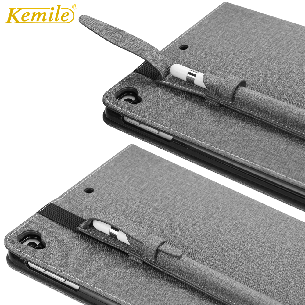 Kemile Case For New ipad 2018 9.7 Ultra Slim Case Protective Stand Case W Pencil Holder Cover For iPad 2017 9.7 A1893 A1954 CaseKemile Case For New ipad 2018 9.7 Ultra Slim Case Protective Stand Case W Pencil Holder Cover For iPad 2017 9.7 A1893 A1954 Case