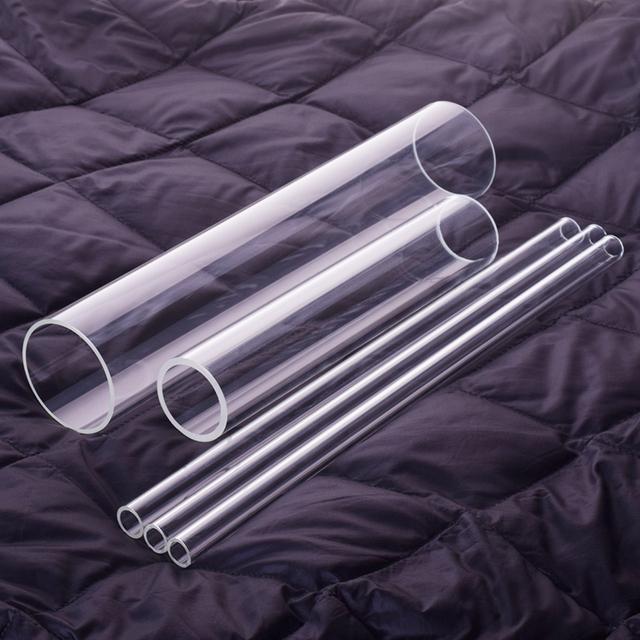 1 szt Wysokiej jakości szkło borokrzemowe średnica zewnętrzna 95mm grubość 2 8mm pełna długość 500mm szklanka odporna na wysoką temperaturę tanie i dobre opinie NoEnName_Null Kolby High borosilicate glass tube O D 95mm