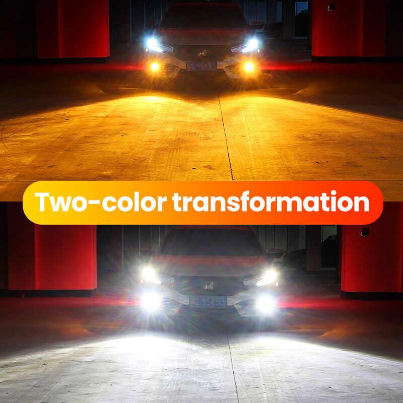 Zarpooz Bulb Yellow And White Colors Fog Light 12V-24V 72W H4 Led H7 LED H1 H3 H8 H10 H27 HB4 Auto Lamps 720LM Light