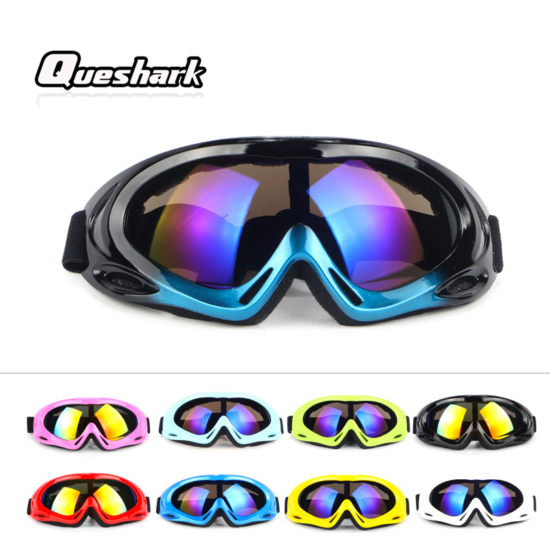 Queshark Professional Unisex Anti-fog Ski Glasses Windproof Skiing Goggles Kid Snow Snowboard Eyewear For Outdoor Activities okulary wojskowe