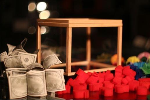 Tirelire Illusion, merveille Box (boîte vide apparaissant cadeaux), gros plan tours de magie, tours d'illusion, apprenti magicien illusion