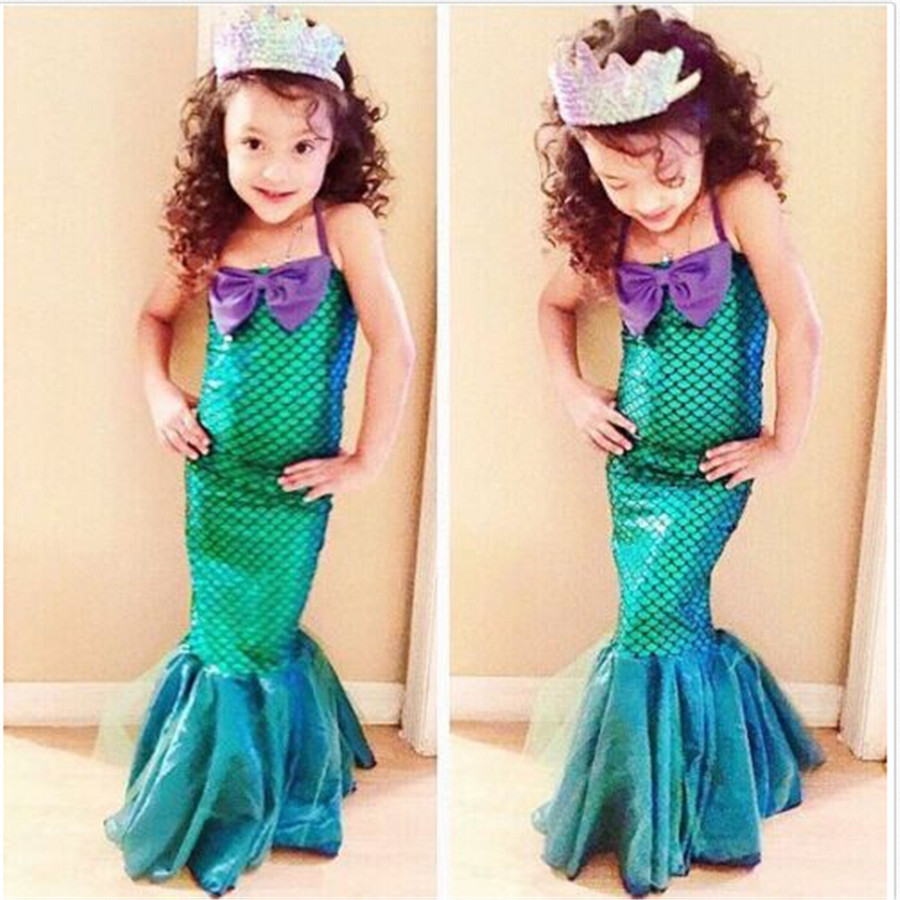 Girls' Clothing Lovely Fancy 2019 Pudcoco New Brand Novelty Ariel Mermaid Cartoon Set Girl Princess Dress Party Cosplay Costume Outfits For Kids 3-12y