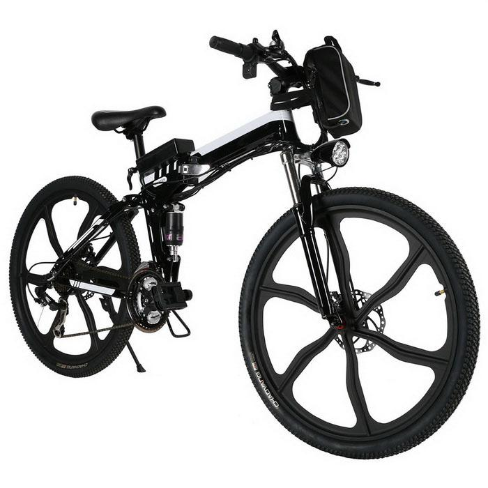 26inch  Black Mountain Bike Foldable Electric Power Mountain Bicycle Aluminum Alloy Bicycle Battery Outdoor26inch  Black Mountain Bike Foldable Electric Power Mountain Bicycle Aluminum Alloy Bicycle Battery Outdoor