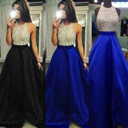 Vestido longo dama de honra baile, vestido feminino formal gola redonda vestidos