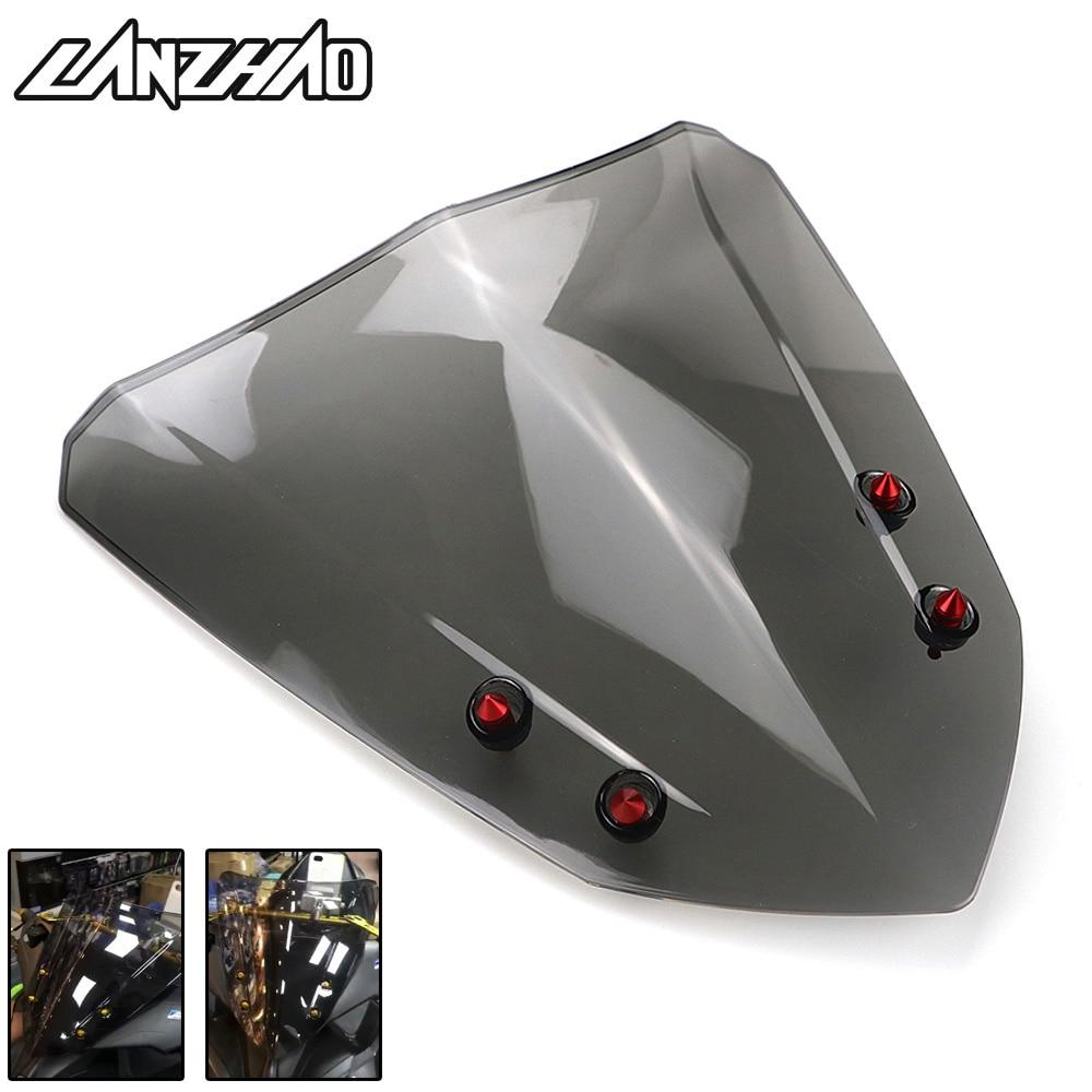 Motorcycle Windshield Windscreen Air Deflector Smoke Black Scooter Accessories For Yamaha Aerox 155 NVX155 2017 2018
