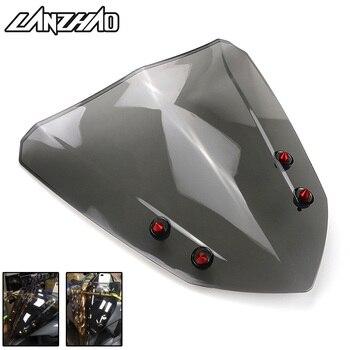 Motorcycle Windshiled Windscreen Air Deflector Smoke Black Scooter Accessories for Yamaha Aerox 155 NVX155 2017 2018 резак для щеток стеклоочистителей