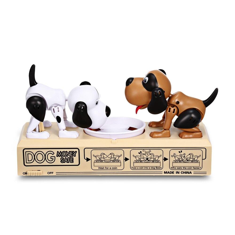 Double Puppy Dog Piggy Bank Robotic Coin Saving Box Electronic Pet Toy