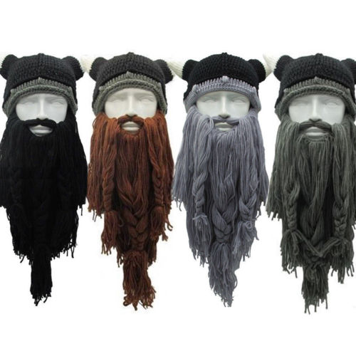 Knitted Wig Long Beard Viking Hat Crazy Ski Mask Caps Barbarian Cosplay  Beanie Party Hats-in Party Hats from Home   Garden on Aliexpress.com  1d12f468af0