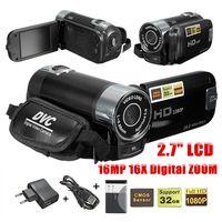HD Digitale Video Camcorder Camera 16MP 2.7 inch LCD Toccare Schermo 16X Zoom Black Red Multiple language 11.7x4.8x5.3cm
