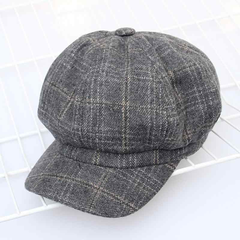 9ca4d59e9a2 2018 New Tweed Gatsby Newsboy Cap Men Autumn Winter Hat For Men Golf  Driving Flat Cap