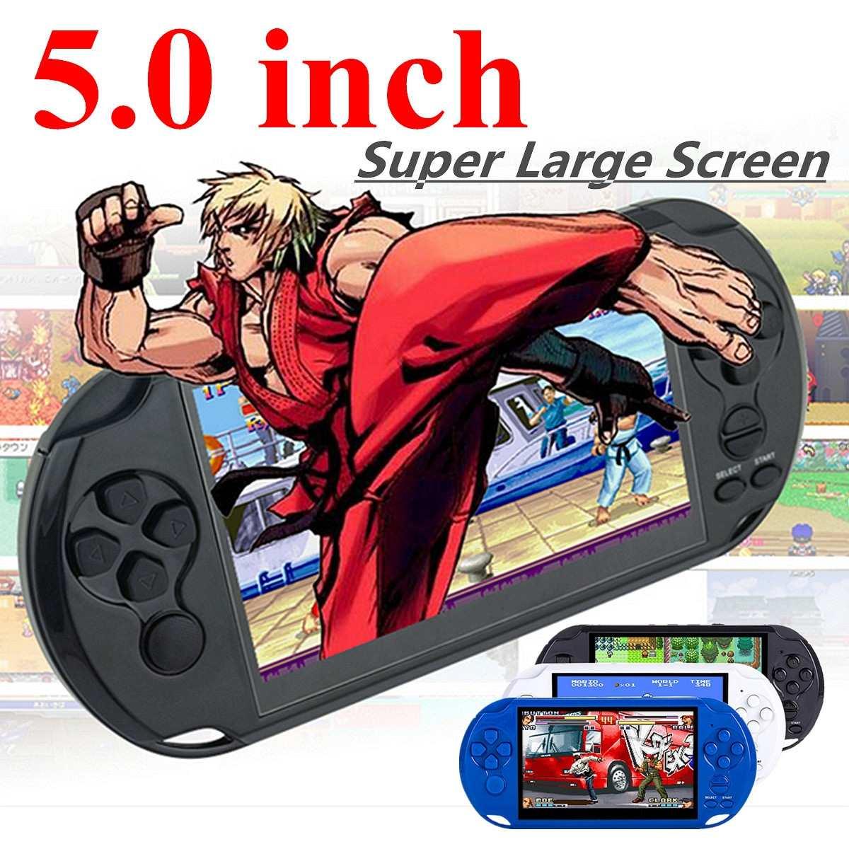 X9 Rechargeable 5.0 pouces 8G De Poche Rétro Jeu Console Vidéo MP3 Lecteur Caméra DV Tir Multi-langues Net 32/64 Peu