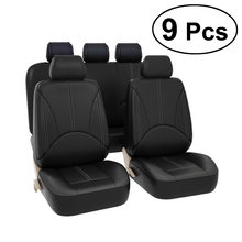 9 Pcs Four Seasons Breathable Universal PU Leather 5 Seats Car Seat Covers Styling Seat Cover Car Accessories Auto Supplies(China)