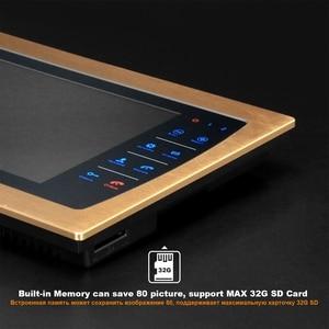 Image 4 - HomeFong חזותי אינטרקום 10 אינץ וידאו פעמון מערכת עם מקורה LCD צג חיצוני וידאו מצלמה פעמון Wired בית אינטרקום