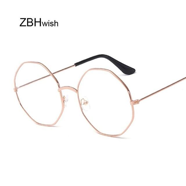 50c878b377 Fashion Vintage Retro Metal Frame Clear Lens Glasses Nerd Geek Eyewear  Eyeglasses Oversized Round Circle Eye Glasses Transparent