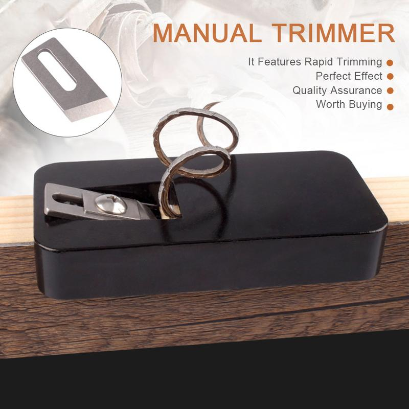PVC Double Edge Trimmer Wood Edge Banding Machine Manual Tail Trimming With Blades Woodworking Tool