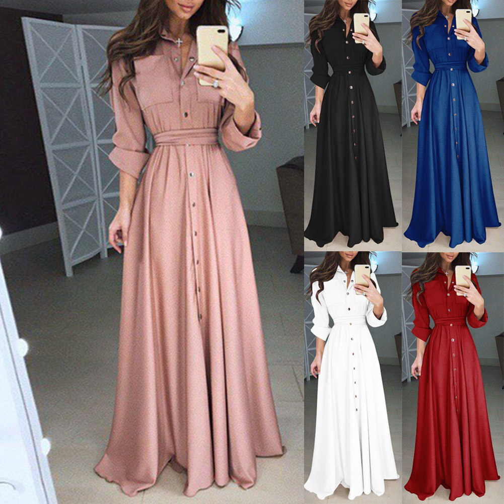 Vestidos De Festa Elegant Autumn Winter Casual Dresses Cheap Long Sleeve A-Line Formal Dresses 2018 Long Party Gown