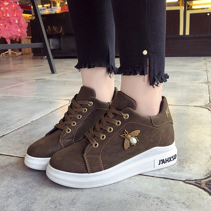 Brun Dames forme Luxe Zapatillas Noir Chaussures Plate Mujer Sneakers army Femmes De Coréenne 2019 Casual Printemps Femme Plates Green qnP6EwYft