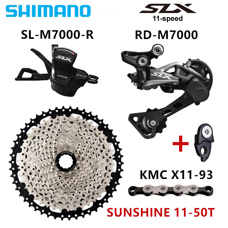 SHIMANO SLX M7000 1x11 11S Speed SUNSHINE 11 46T 11 50T Groupset Contains Shift Lever Rear