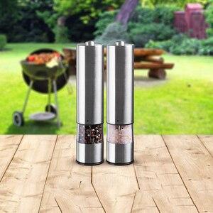 Image 5 - Unidad eléctrica de molienda de sal y pimienta (2 paquetes) vibrador ajustable electrónicamente amoladora de cerámica una mano automática