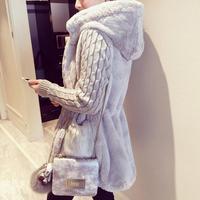 Осень зима теплое пальто большой меховой воротник капюшон одежда Анорак куртка модная женская парка Теплая Верхняя одежда Пальто с шапкой