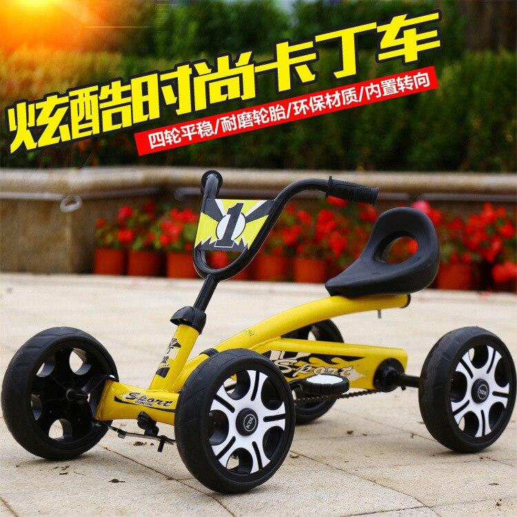 4 roues Go-kart enfants quatre roues véhicule à pédales véhicule homme fille vélo Go Kart vélo défense côté recherche vélo Bmx lisse