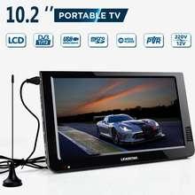 "Coche portátil de televisión exterior 16:9 televisión Digital analógica DVB-T/DVB-T2 TFT 10,2 ""LED-LCD HD TV soporte TF tarjeta de Audio"