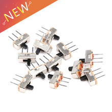 20Pcs Interruptor on-off mini Slide Switch SS12D00 SS12D00G3 3pin 1P2T 2 Position High quality toggle switch Handle length:3MM(China)