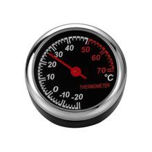 VODOOL Carro Auto Peças de Reposição Mini Termômetro Automóvel-20 para 70C Auto Car Decoração de Interiores Enfeites Preto