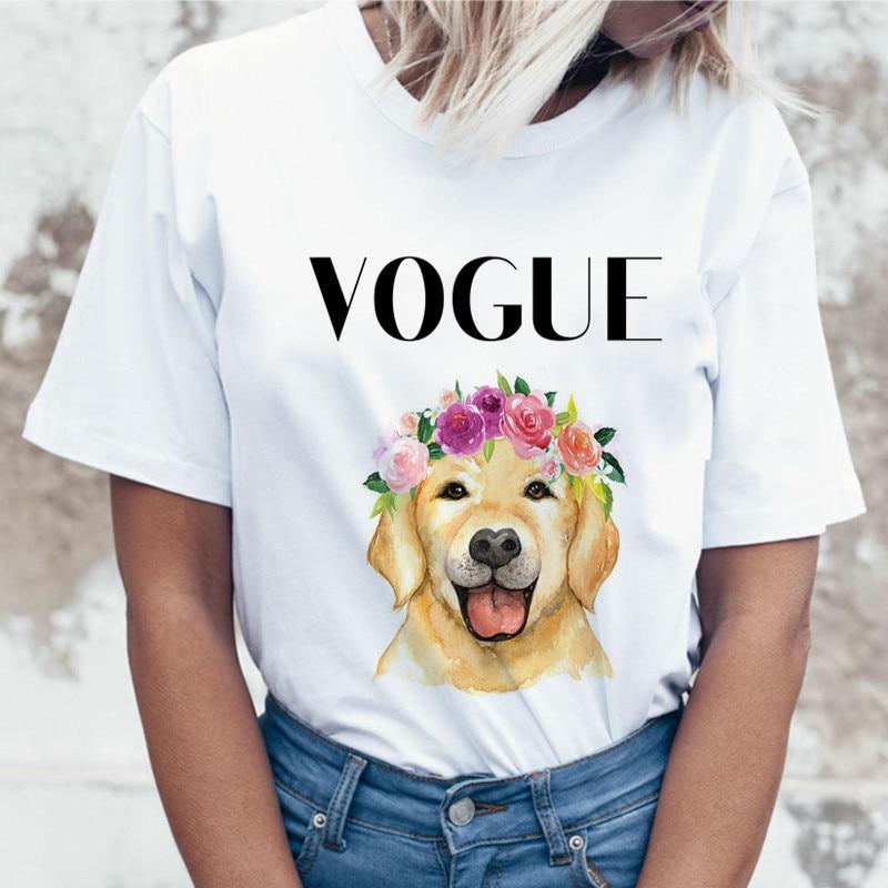 funny t-shirt women big size white t shirts 2019 vogue dog homme femme
