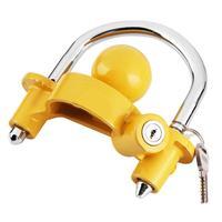 Universal Heavy Duty Hitch Lock Caravan Trailer Ball Coupler Lock Yellow