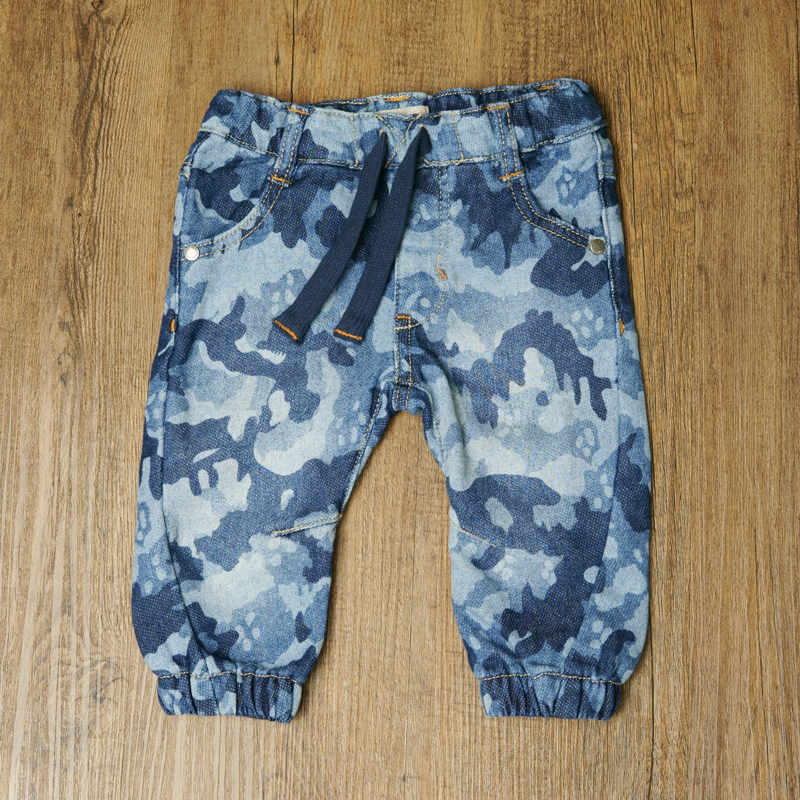 2018 Newborn Baby Soft Denim Toddler Boy Camouflage Trousers Infant Warm Harem Pants Leggings Kids Clothing Military Style
