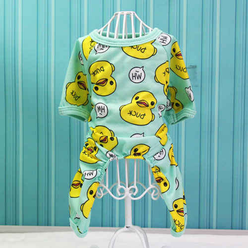 Pyjama imprimé pour chiens en coton   Mignon, Chihuahua Yorkie, vêtements pour chiots, combinaison pour chien, Costume de chiot Super doux et chaud