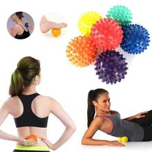 Balle de Massage en PVC Spiky Point de déclenchement Sport Fitness main pied douleur soulagement du Stress Fitness accessoires Muscle Relax balle 6 couleurs(China)