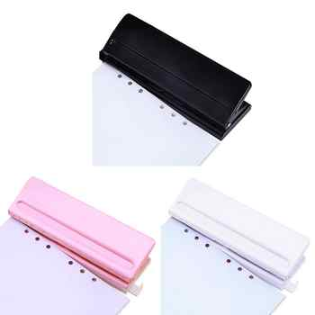 6 Hole Punch Loose-Leaf Standard Puncher Paper Adjustable Stapler Home Office Binding Supplies Student Stationery Equipment - DISCOUNT ITEM  31% OFF All Category